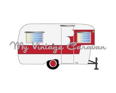 Oasis Vintage Trailer Digital Print by MyVintageCaravan on Etsy