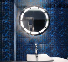 Illusion Glass Mosaic Sapphire - Comes in Mosaic at 48x48x8mm, or Sheets of 298x298mm