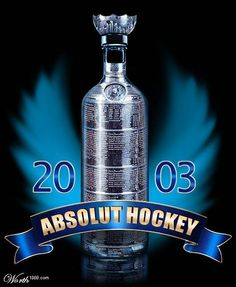 Absolut Hockey Hockey Stanley Cup, Absolut Vodka, Vodka Bottle, Passion, Ads, Drinks, Sports, Poster, Drinking