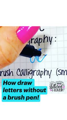 How draw letters without a brush pen!