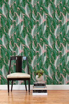 Removable Wallpaper Tiles banana leaf removable wallpaper- golden girls- peel & stick self