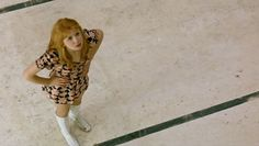 Jane Asher in Deep End, Jerzy Skolimowski, 1970 Jane Asher, The Beatles 1, Cool Style, Capri Pants, Deep, Poses, Shirt Dress, Films, Shirts