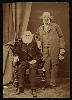 Citation: Hiram Powers and William Cullen Bryant, ca. 1865 / unidentified photographer. Hiram Powers papers, Archives of American Art, Smithsonian Institution.