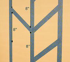 Herringbone Pattern Accent Wall