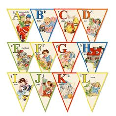 Alphabet Story Book Banner -