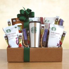 Chance to Win a California Delicious Starbucks Coffee Mornings Gift Box. This Starbucks coffee gift will be a hit for the coffee lover on the go. Starbucks Gift Baskets, Coffee Gift Baskets, Basket Gift, Coffee Hampers, Gourmet Gifts, Food Gifts, Gourmet Recipes, Coffee Lover Gifts, Gift For Lover