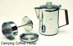 Camping Coffee Maker - brilliant collection. Need to take a look...