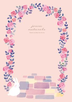 illustrator Kotori N. Message Card, Reference Images, Bunny Rabbit, Cute Pictures, Iphone Wallpaper, Diy And Crafts, Messages, Graphic Design, Watercolor