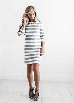 striped dress, stripes, fall style, fall outfit, fall fashion, womens fashion, shop jessakae