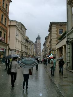 Krakow, Poland - This is basically how I remember it, raining and beautiful