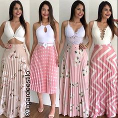 Image may contain: 4 people, people standing Classy Outfits, Stylish Outfits, Cute Outfits, Fashion Outfits, Fashion Pics, Style Fashion, Chiffon Dress, Dress Skirt, Cute Dresses