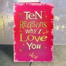 A good gift for boyfriend: 10 Reasons Why I Love You Card