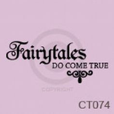 Fairytales Do Come True Vinyl Wall Decal by TickledPinkImpress, $22.00