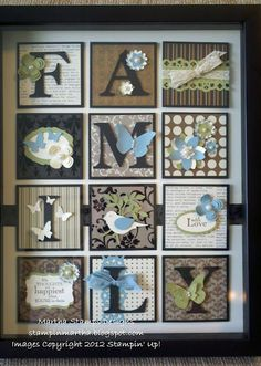 Family Frame Art Kit in the mail by Martha Haddock