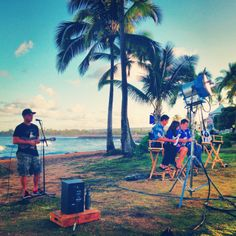 Behind the scenes at Makua Rothman's interview & performance on Hawaii News Now Sunrise!
