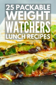 Looking for easy make ahead Weight Watchers lunch recipes you can meal prep to make your weight loss plans easy and delicious? Perfect for work or when you're on the go, we've rounded up 25 fabulous recipes that include the total points (or SmartPoints, where applicable) per serving, and we've included so many different options, like bowls and boxes, sandwiches, salads, and soups, chicken, tuna, beef, and vegetarian selections! #weightwatchers #weightloss #healthyrecipes #weightlossrecipes