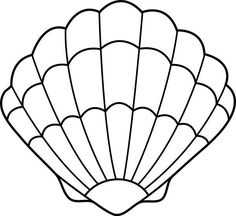 seashell drawing | Lovely Zigzag Scallop Seashell Drawing Coloring Page
