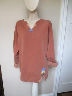 Appliqued Sweatshirt Rust Orange Sweatshirt by StitchesbyJulia
