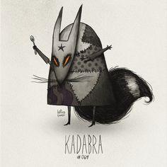 Kadabra #064 Part ofThe Tim Burton x PKMN ProjectBy Vaughn PinpinNow then… Where were we?