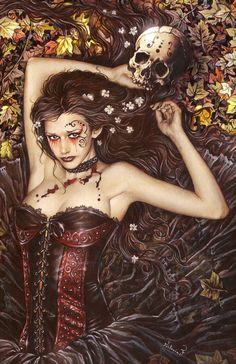 Vampire Skull Girl   Victoria Frances Art