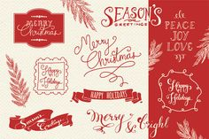 Christmas Overlays Set 2 - Vector by The Pen & Brush on Creative Market