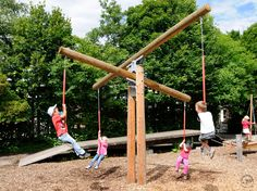 Cross-scales 012 More Parents backyard please Kids Outdoor Play, Outdoor Play Spaces, Kids Play Area, Backyard For Kids, Outdoor Fun, Backyard Ideas, Garden Kids, Play Areas, Outdoor Games