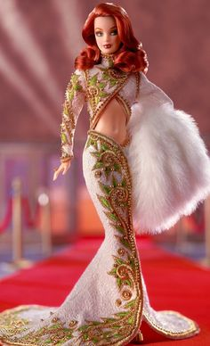Radiant Redhead™ Barbie®, the premier doll in The Red Carpet™ Collection from renowned designer Bob Mackie