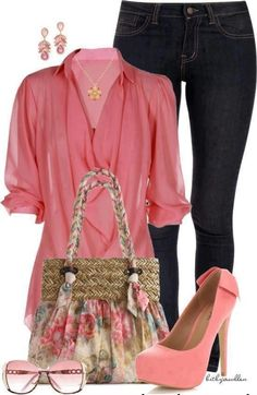 love all of this but with pink flats for me