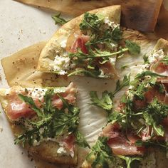 White Pizza Recipe with Arugula and Prosciutto - Food and Recipes - Mother Earth Living