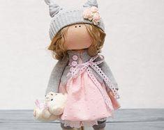 Emma Doll-Handmade Doll-Textile Doll-Fabric by GumeniukToys