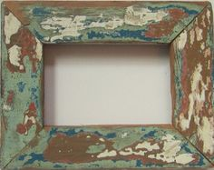 Mini Single blue/green rustic photo frame