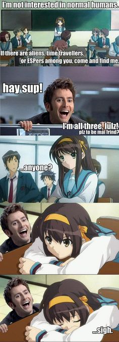that's cold, Haruhi. (...which do i pin this under? Doctor Who? Anime? IDK.)