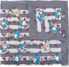 Pin for Later: The Cutest Alice in Wonderland Gift Guide Scarf Olympia Le-Tan Alice in Wonderland Print Scarf ($291)