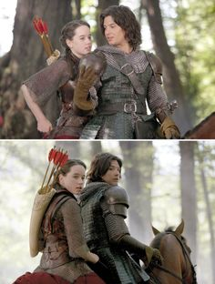 The Chronicles of Narnia – Prince Caspian (2008) Starring: Anna Popplewell as Susan Pevensie and Ben Barnes as Prince Caspian. (click thru for larger image)