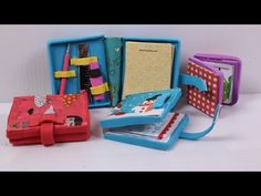 How to make a Doll Diary: doll school supplies - YouTube