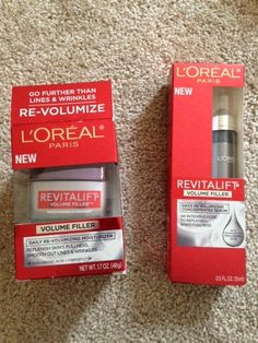 NEW! Review, Ingredients: L'Oreal Revitalift Volume Filler Daily Moisturizer, Serum Concentrate; Age Perfect Cell Renewal Facial Oil – click below to see the benefits & price