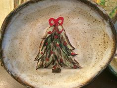 Holiday Sneak Peek!! Etta B Pottery Christmas Tree plate is new this year! We can ship if you are not local. Call the store for more info!