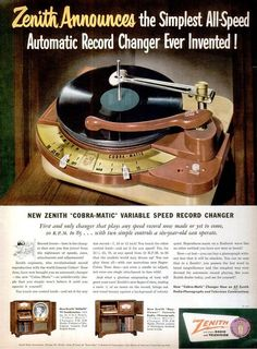 Zenith Cobramatic advert