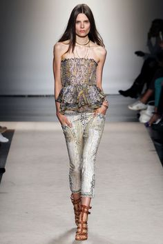 Love the pants with studs on bottom  paired with these sandals- Isabel Marant