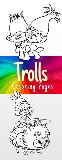 Free Trolls coloring printables
