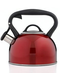 Any Red Or Green modern Teapot | The one we have is... well... ready to retire :) | Cuisinart Tea Kettle, Valor Red Metallic - Cookware - Kitchen - Macy's