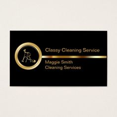 Classy Cleaning Business Cards Maid Services