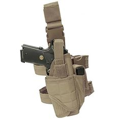 Carlebben Elite Molle Drop Leg Holster Adjustable Right Handed Tactical Thigh Pistol Gun Holster Green >>> Check this awesome product by going to the link at the image. (This is an affiliate link) Tactical Holster, Tactical Vest, Gun Holster, Holsters, Airsoft Sniper, Airsoft Gear, Drop Leg Holster, Duty Gear, Combat Gear