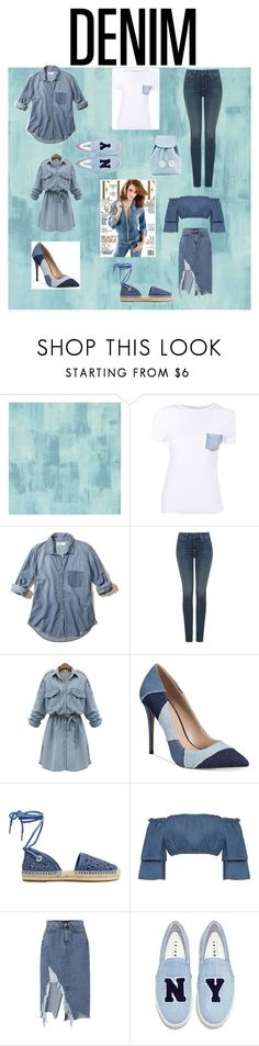 """""""Denim Top to Bottom👖"""" by shekb ❤ liked on Polyvore featuring Designers Guild, Helmut Lang, Hollister Co., NYDJ, WithChic, ALDO, MICHAEL Michael Kors, WearAll, Joshua's and Sugarbaby"""
