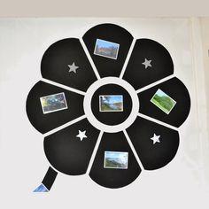 Dans une chambre d'enfant, créez un espace de jeux avec notre #kitpeinture #deco mur magnétique