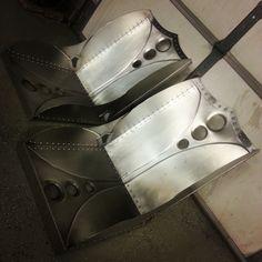 knuckles industries bomber seat cold rolled steel aluminum rivets handmade www. Black Bedroom Furniture Sets. Home Design Ideas