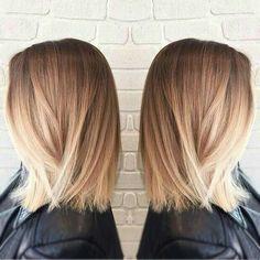 Mediun hair length, medium hair style, blonde hair, balayge, ombre color