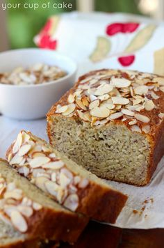 The Best Almond Banana Bread