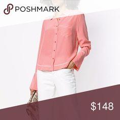 bb33077597f EQUIPMENT Huntley Silk Shirt Pop Pink Blouse Top EQUIPMENT Huntley Shirt  100% New and Real
