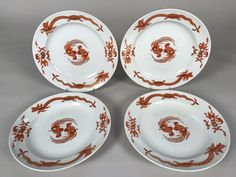 Four Meissen Porcelain Red Dragon Pattern Plates  | Pottery & Glass, Pottery & China, China & Dinnerware | eBay!